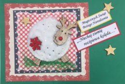kartka z życzeniami bożonarodzeniowymi