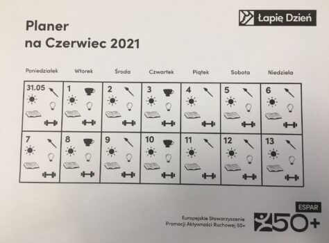 Planer zajęć na czerwiec 2021